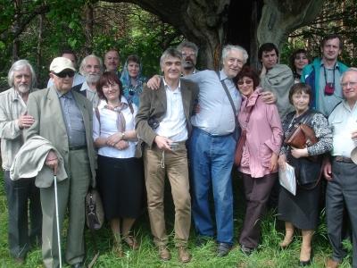 Участники XII Федоровских чтений под сенью Гагаринского дуба